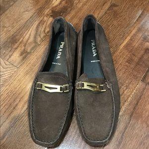 Suede prada woman's shoes